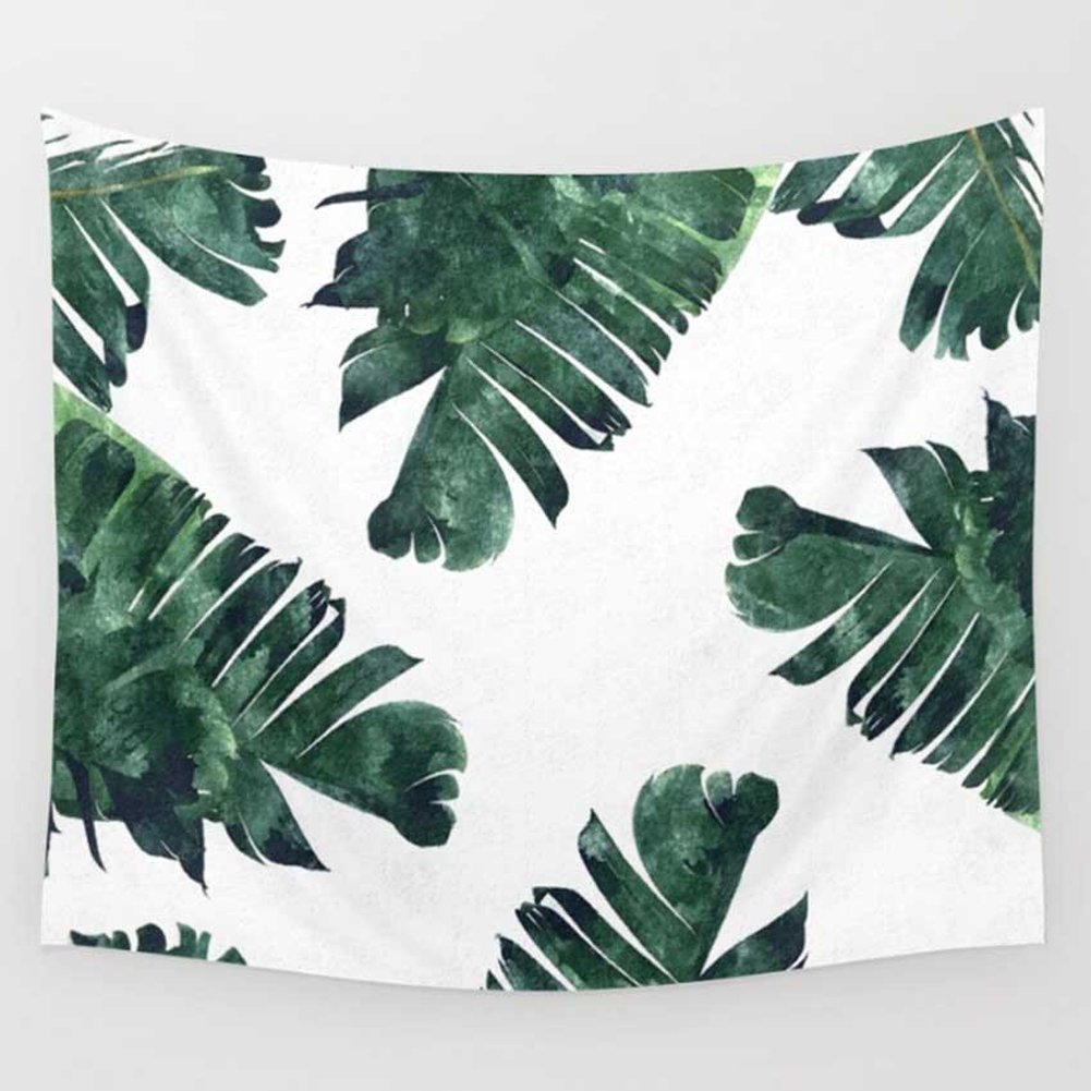 WINLIFE  Banana Leaves Tapestry Hanging Wall Tapestries Creative Beach Towels 51