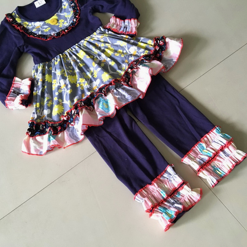 Hot novel Yiwu cloth Flower print Half sleeve style 100%cotton Summer and Bib of Baby Girls Dress Apparel Accessory for present<br>