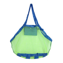 Beach Mesh Bag Applied Enduring Children Sand Away Beach Mesh Bag Children Beach Toys Clothes Towel Bag Beach Accessory 24*24cm(China)