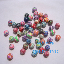 50pcs/lot DIY accessories,8mm polymer clay beads,round beads,mix color,bracelet Department(China)