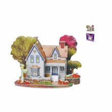 1 Set Educativo Houses Puzzle Baby toy Puzzle Jigsaw 3D DIY Early learning Castle Construction Pattern For Children Kids(China)