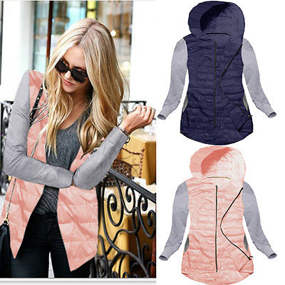 2017 New Parkas Female Women Winter Coat Cotton Winter Hoodied Jacket Patchwork Sleeve Outwear Parkas Winter Outwear Outfit Одежда и ак�е��уары<br><br><br>Aliexpress