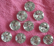 1000pcs 10mm round clear ACRYLIC buttons 2 holes Crystal buttons shirt coat hat craft sewing accessories A0004