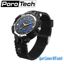 2017 Sport Camera Wifi watch Fox8 P2P WiFi IP Camera Pocket Mini DVR Built in 32G Car Bicycle Video Recorder Smartwatch Camera(China)