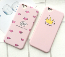 Phone Case for iphone 5 5s SE 6 6s 7 PLus Princess Crown Girl Cute Cartoon Design Printing Soft Silicone Case