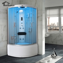 90cm white hydro with Steam Shower Cubicle Enclosure Bath Cabin Room Cabin cubicle Enclosure glass walking-in sauna 903