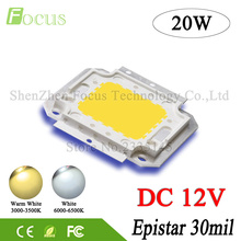 DC 12V High Power LED Chip 1W 3W 5W 10W 20W 30W 50W 100W Warm White SMD COB Diode For 1 3 10 20 30 50 100 W Watt Light Beads(China)