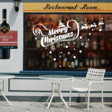 Foreign Trade Explosion Models Christmas Shop Window Display To Celebrate Christmas Banner Decorative Wall Stickers