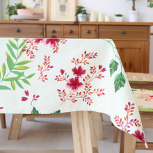 Large Size 100% Cotton Table Cloth colorful Flowers Tablecloths Table Cover High Quality decoration customized wedding gift(China)