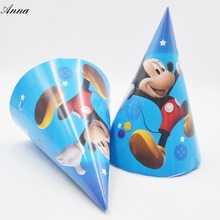 6pcs/bag mickey mouse Caps Theme Party For Kids/Boys Happy Birthday Decoration Theme Party Supply mickey mouse party supplies(China)