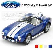 High Simulation Exquisite Baby Toys KiNSMART Car Styling Ford Shelby Cobra 427 Model 1:36 Alloy Sports Car Model Excellent Gifts(China)