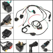 High Quality For 50cc 110cc 125cc PIT Quad Dirt Bike ATV CDI Wiring Harness Loom Ignition Solenoid Coil Rectifier 1 Set(China)