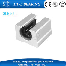 Free Shipping 4pcs SBR16UU aluminum block 16mm Linear motion ball bearing slide block match use SBR16 16mm linear guide rail