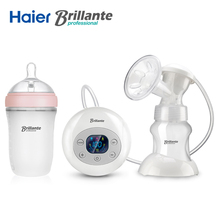 Haier Brillante USB power Auto Electric Breast Pump BDR02 milk sucker With 240mL Silicone Baby Feeding Wide Mouth Milk Bottle(China)