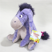 Sitting height 25cm=9.8'' Original Donkey Eeyore plush toys for children cartoon figure plush animal dolls birthday gift(China)