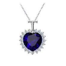 New Titanic Heart of the Ocean rhinestones Crystal Chain Necklace Pendant Plate Jewelry High quality same Lady Woman Gift
