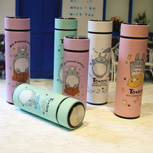 High Quality Totoro Lovely Thermos Pretty Coffee Thermos Mug Stainless Steel Vacuum Cup Sports Water Bottle(China)