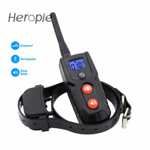 Heropie Vibration and Tones Dog Trainer LCD Remote 300M Waterproof Rechargeable Pet Cat Dog Training Collar(China)