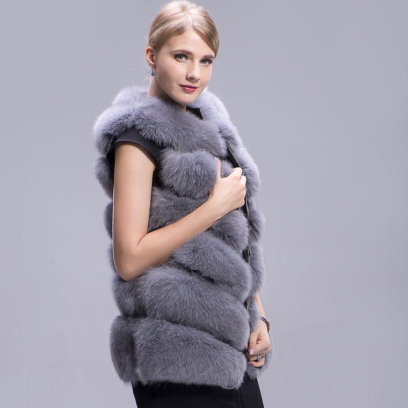 fox fur vest 6 lines grey 4
