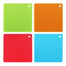 Non-slip Silicone Table Placemat Cup Coaster Heat Resistant  Pot Holder  Kitchen Accessories