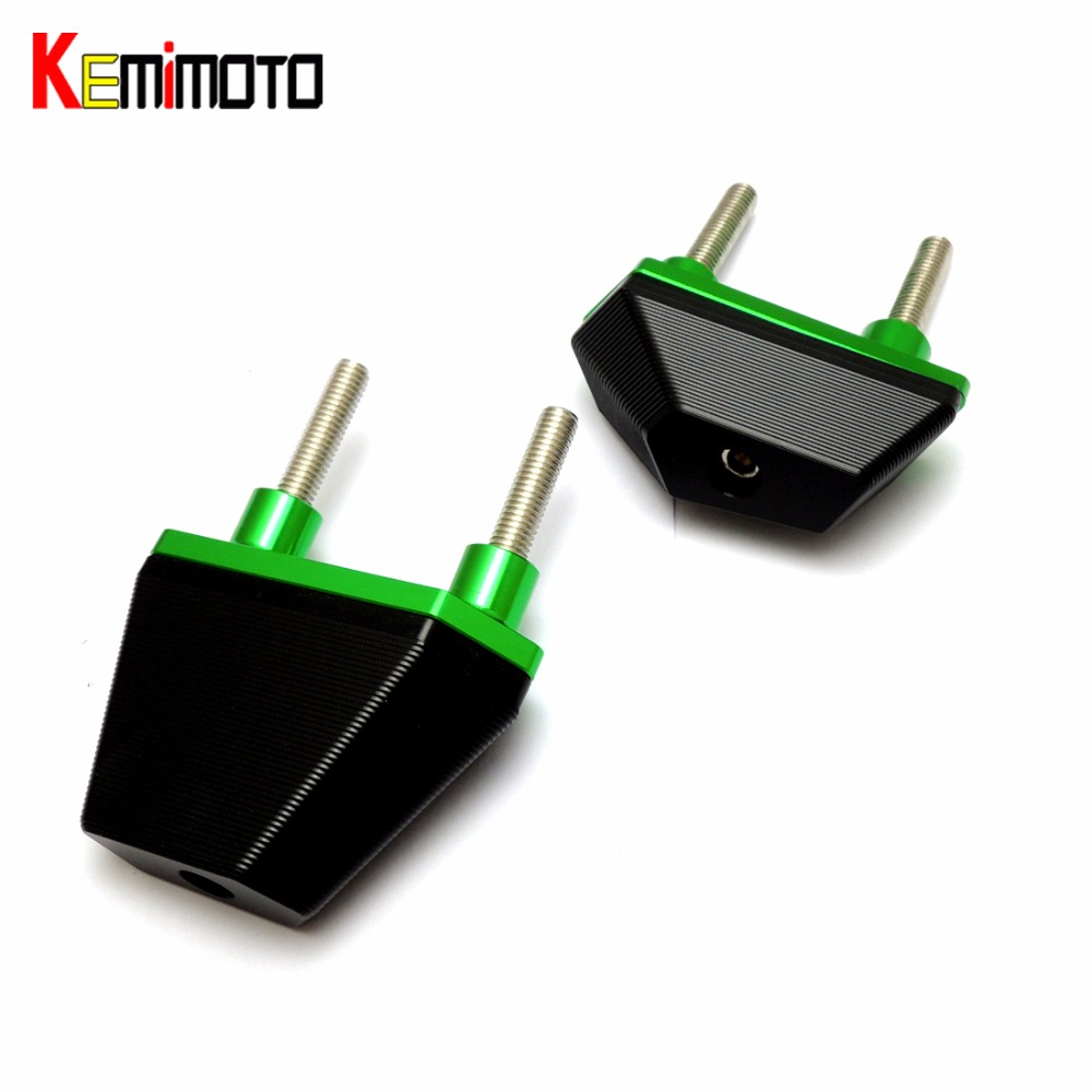 KEMiMOTO Motorcycle Frame Sliders Crash Pads Protector For Kawasaki z800 2013 2014 2015 Motorcycle accessories <br>