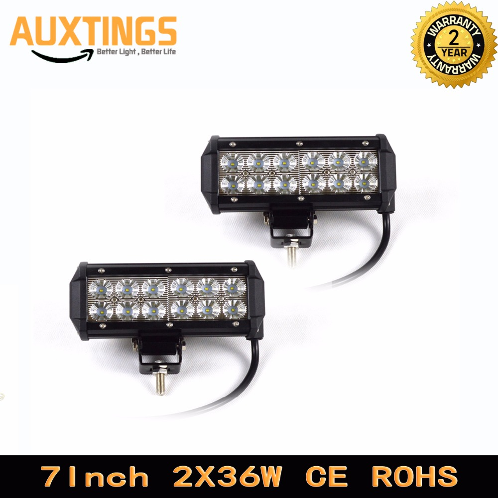 "2PCS FREE SHIPPING led lightbar 7"" 7inch 36w watt SPOT FLOOD beam led light car IP67 offroad led driving light for SUV,PICKUP(China (Mainland))"