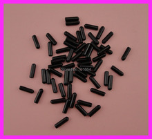 200PCS 15mm*4mm Small Size Black rubber tips for the end of 3mm and 4mm headbands to protect from hurt,Bargain for Bulk(China)