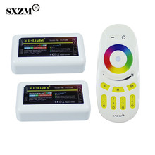 SXZM 2X4 zone RGBW Mi.light led controller + RGBW Touch led remote for 5050 RGBW Led Strip light and bulb with RoHS,CE