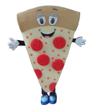 New arrival 2016 Cartoon Character Adult cute pizza Mascot Costume Fancy Dress Halloween party costume free shipping