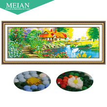 Meian,Special Shaped,Diamond Embroidery,House,Swan,River,5D,Diamond Painting,Cross Stitch,3D,Diamond Mosaic,Decoration,Christmas(China)