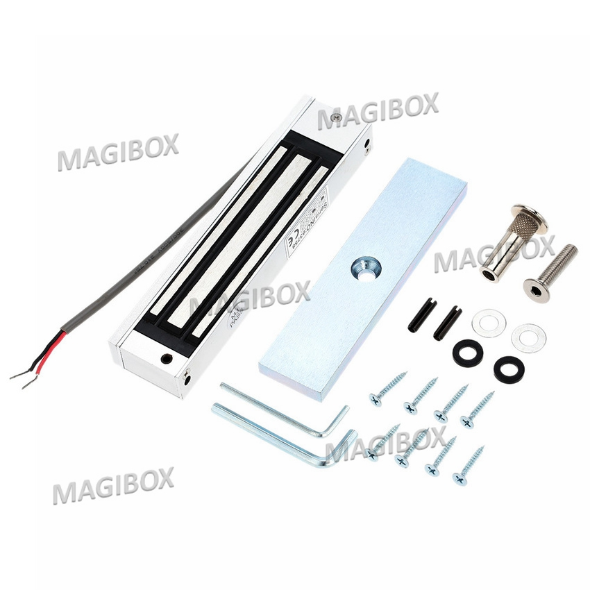 180KG (350LB) Single Door 12V/24v Electric Magnetic Electromagnetic Lock  for door  Access Control<br><br>Aliexpress