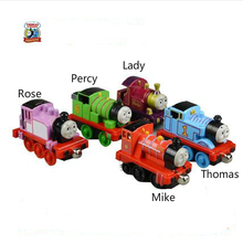 5pcs/lot Diecast Metal Thomas and Friends Train The Tank Engine Trackmaster Toys For Children Kids Lady/ Roise/ Percy/ Mike(China)