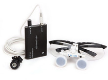 Dental 3.5 X R Surgical Binocular Loupes Magnifier Glasses  + LED Head Light