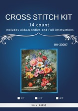 3th Free delivery Top Quality Lovely Counted Cross Stitch Kit Coral Peonies Peony Pink Flower Flowers dim 70-35298 35298 7(China)