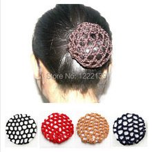 Bun Cover Snood Hair Net Ballet Dance Skating Crochet Hairbands Beautiful Hair Accessories Mix Colors