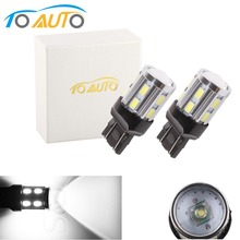 2PCS T20 W21 5W 7443 LED White Cree Chip 12SMD 5730 Auto Brake Lights Reversing Lamp Bulb Car 7440 W21W Led Bulbs DRL 12V