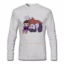 Custom Christmas t-shirt Teenage Plus size We Bare Bears mens T Shirts Luxury Grizzly Panda Clothing For Mens(China)