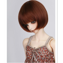 Women Sexy Neat Bangs Short Straight Wig For 1/3  1/4  1/6 BJD Dolls, Fashion BJD / SD Hair Wig, Doll Accessories Free Shipping