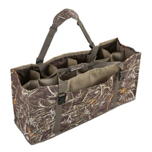 12 Slot Duck Decoy Bag with Padded Adjustable Shoulder Strap Slotted Decoy Carriers for Duck Goose Turkey Hunting Accessories