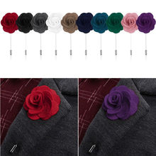 New Lapel Flower Daisy Handmade Boutonniere Stick Brooch Pin Men Cool Beautiful Accessories in Party Wedding