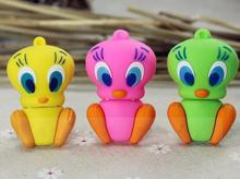 Lovely cartoon mini yellow duck usb 2.0 USB Flash Drive 1GB-64GB Memory Stick Drive U Disk Festival Thumb Gift Real capacity S70