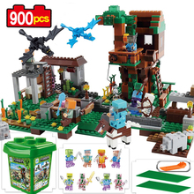 Qunlong My World Village Building Blocks Castle Kids Toys Gift Compatible Legoe Minecrafted City Building Blocks For Boy Gift(China)
