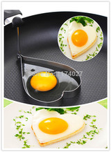 Free shipping 1pc Stainless Steel Fried Egg Mold shaper Pancake Rings Cooking tools kitchen gadgets