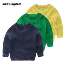 Mudkingdom Baby Boys Girls Winter Hand Knitted Cardigans Sweaters Kids Baby Boy Thermal Jersey Jumper Toddler Boy School Clothes(China)
