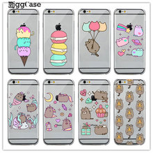 inflatable cat unicorn Soft Case For iPhone 6 6S Plus 5 5S SE 7 7Plus Transparent Soft silicone Telephone protective cover(China)