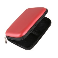 "RED Hard Drive Nylon Cover Bag Compartments Case Cover for 2.5"" HDD Hard Disk Drive Protect External"