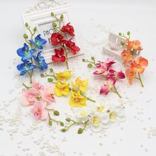 2 pcs / lot Artificial Silk Orchid Wedding Bouquet Home Decoration Cheap Party Supplies Scrapbooking Cymbidium plants Orchis(China)