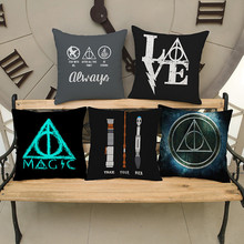 Black Magic sign,triangle geometric pattern grey Pillow case Cushion Cover Home sofa hotel club coffee shop Decoration for gift(China)