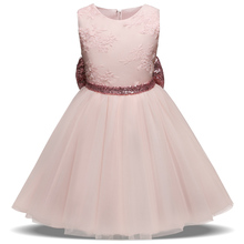 Summer Lace Princess Girl Dress Baby Girl's Infant Party Dress Children Frocks Designs V-backless Designs Kids Prom Gown Clothes