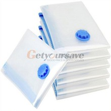 5 Size Vacuum Bag Transparent Border Foldable Compressed Organizer Storage Bag Saving Space Seal Bags